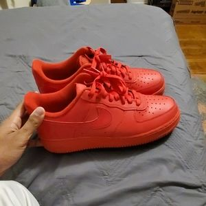 Triple red airforce ones